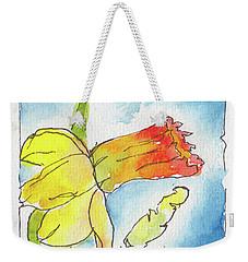 Blue Sky Daffodils Weekender Tote Bag by Pat Katz