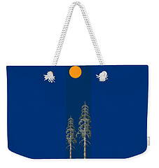 Weekender Tote Bag featuring the painting Blue Sky by David Dehner
