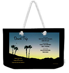 Blue Sky Sunset From A Desert Trip Weekender Tote Bag by Desiderata Gallery