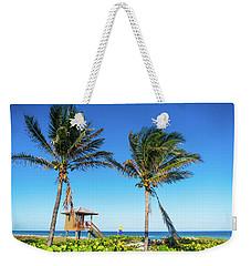 Blue Sky Palms Delray Beach Florida Weekender Tote Bag