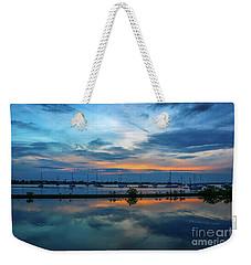 Blue Sky Sunset Weekender Tote Bag by Tom Claud