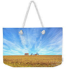 Weekender Tote Bag featuring the digital art Blue Skys And Yellow Fields by Randy Steele