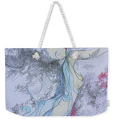 Blue Smoke And Mirrors Weekender Tote Bag by Marat Essex