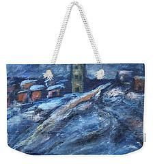 Blue Snow City Weekender Tote Bag