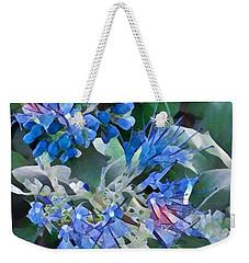 Blue Splash - Flowers Of Spring Weekender Tote Bag by Miriam Danar
