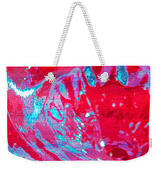 Blue Splash Weekender Tote Bag by Samantha Thome