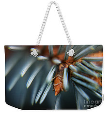 Weekender Tote Bag featuring the photograph Blue Spruce by Rebecca Davis