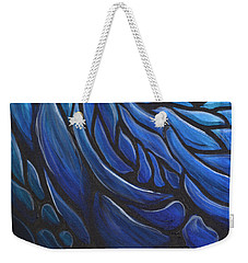 Blue Stained Glass Weekender Tote Bag