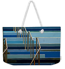 Stairs Blue Abstract In New Orleans Louisiana Weekender Tote Bag by Michael Hoard