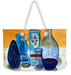 Blue Still Life Weekender Tote Bag