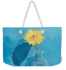 Blue Still Life Apple Flower Weekender Tote Bag