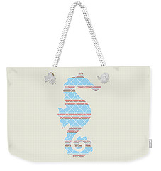 Blue Seahorse Art Weekender Tote Bag