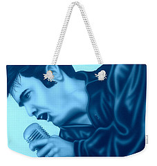 Blue Suede Shoes Weekender Tote Bag by Darren Robinson