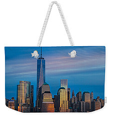 Blue Sunset At The World Trade Center Weekender Tote Bag by Eleanor Abramson