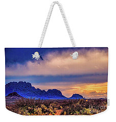 Blue Sunset Nm-az Weekender Tote Bag by Diana Mary Sharpton