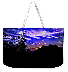 Weekender Tote Bag featuring the photograph Blue Sunset In Poland by Mariola Bitner