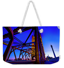 Weekender Tote Bag featuring the photograph Blue Sunset- by JD Mims