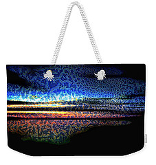 Blue Sunset On The Lake  Weekender Tote Bag