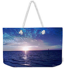 Blue Sunset Weekender Tote Bag by Vicky Tarcau