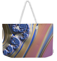 Blue Swirly Fractal 2 Weekender Tote Bag