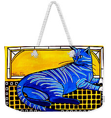 Blue Tabby - Cat Art By Dora Hathazi Mendes Weekender Tote Bag