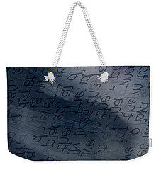 Blue Talk Weekender Tote Bag
