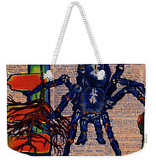 Blue Tarantula Weekender Tote Bag by Emily McLaughlin