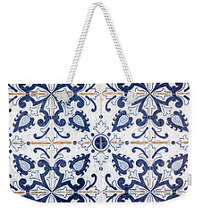 Blue Tile Of Portugal Weekender Tote Bag