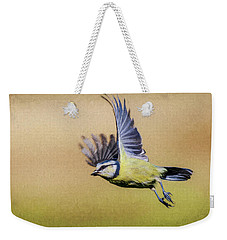 Blue Tit In Flight Weekender Tote Bag