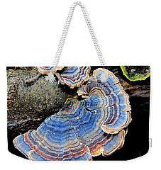 Blue Turkeytail Fungi Weekender Tote Bag