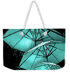 Blue Umbrella Splash Weekender Tote Bag