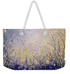 Weekender Tote Bag featuring the painting Blue Valley by Jane Chesnut