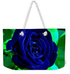 Blue Velvet Rose Weekender Tote Bag