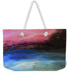 Blue Water Abstract Weekender Tote Bag