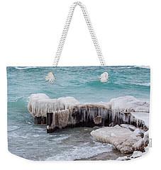 Blue Water And Ice Weekender Tote Bag