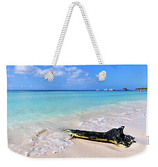 Blue Water And White Sand Weekender Tote Bag
