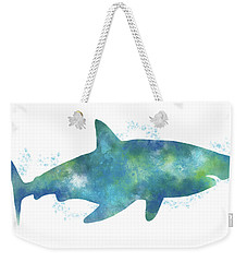 Blue Watercolor Shark- Art By Linda Woods Weekender Tote Bag