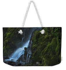 Blue Waterfall Weekender Tote Bag