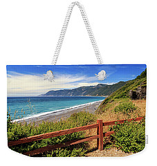 Weekender Tote Bag featuring the photograph Blue Waters Of The Lost Coast by James Eddy