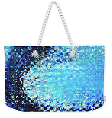 Blue Wave Art - Pieces 7 - Sharon Cummings Weekender Tote Bag by Sharon Cummings