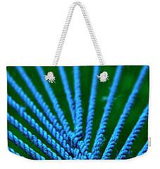 Blue Weave Weekender Tote Bag