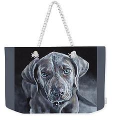 Blue Weimaraner Weekender Tote Bag