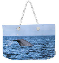 Weekender Tote Bag featuring the photograph Blue Whale Tail Flop by Suzanne Luft