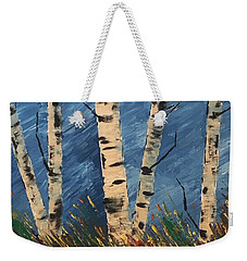 Blue Wind Blew Weekender Tote Bag