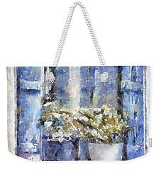 Blue Window Weekender Tote Bag by Shirley Stalter