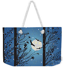 Blue Winter Moon Weekender Tote Bag by Kim Prowse