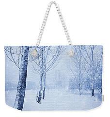 Blue Winter Path Weekender Tote Bag