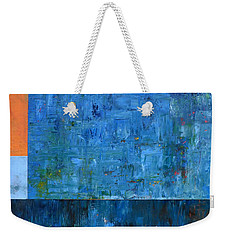 Blue With Orange Weekender Tote Bag