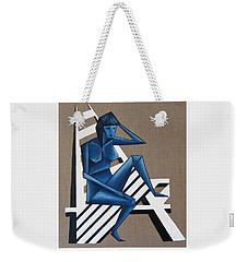 Blue Woman Weekender Tote Bag
