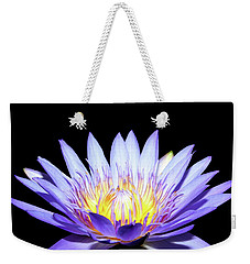 Weekender Tote Bag featuring the photograph Blue Wonder by Judy Vincent